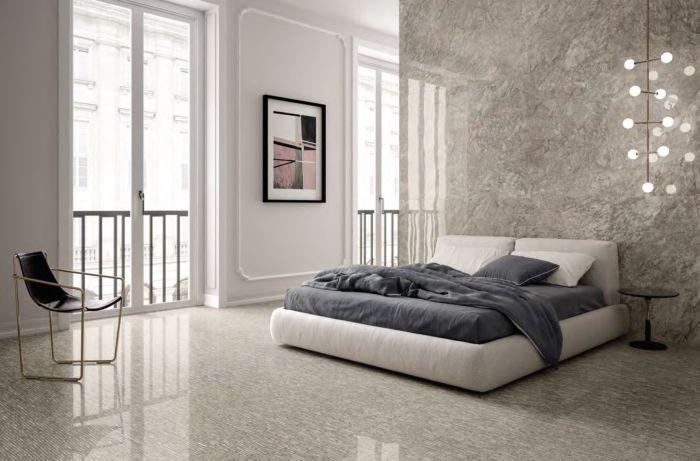 sử dụng gạch vân đá cho phòng ngủ