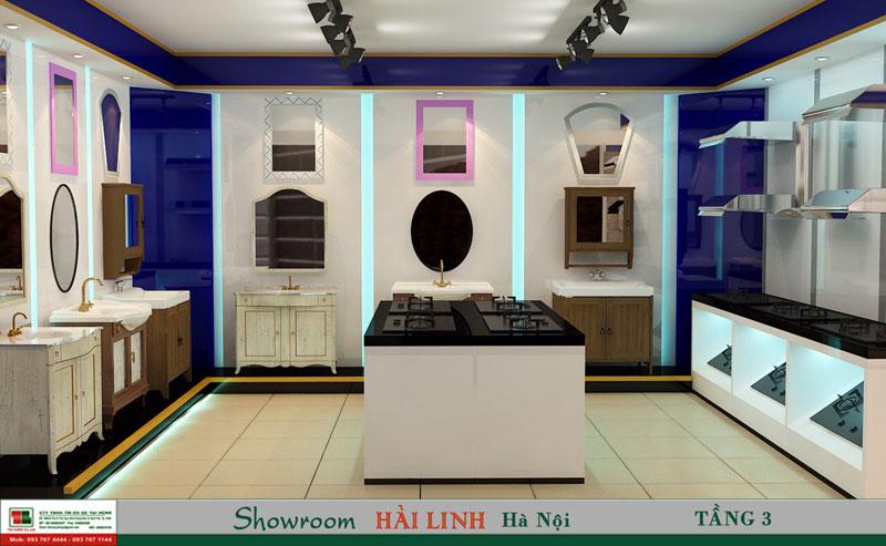 Không gian trưng bày tầng 3 Showroom Long Biên