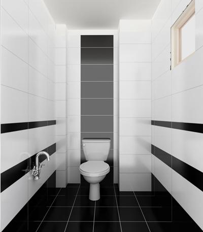 Sử dụng những gam màu đối lập cho nhà tắm