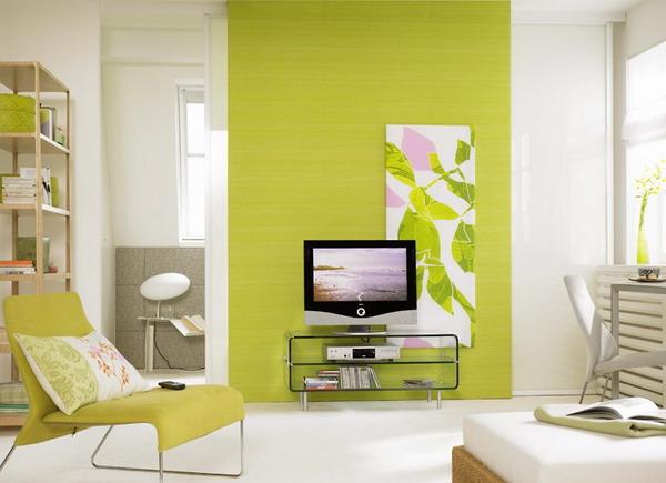 Cách phối màu gạch ốp tường phòng khách cho người mệnh Mộc