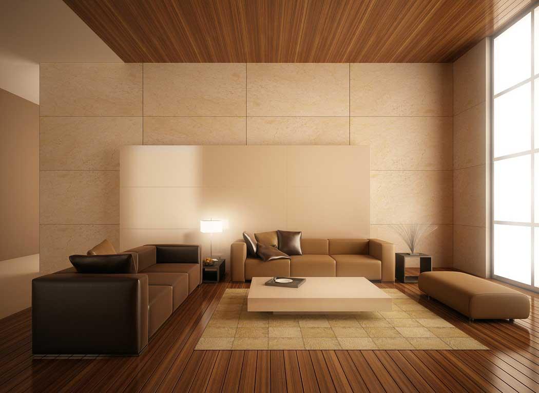 Cách phối màu gạch ốp tường phòng khách cho người mệnh Thổ