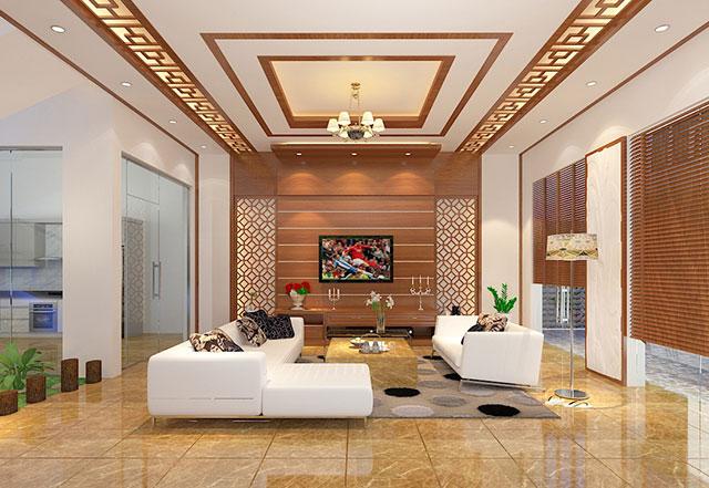 Phòng khách nhà mái thái đẹp