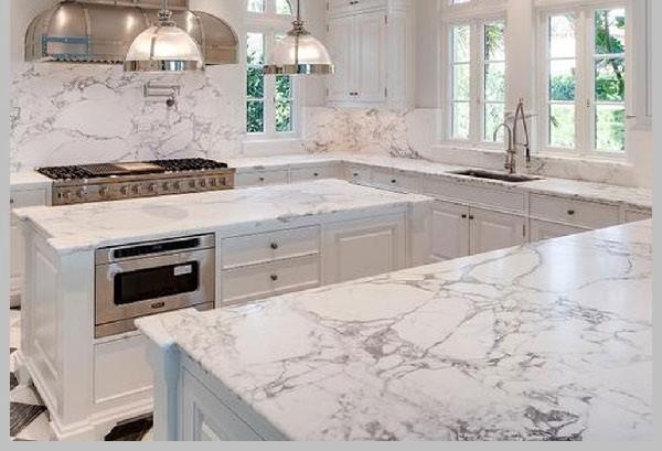Gạch ốp tường nhà bếp Marble