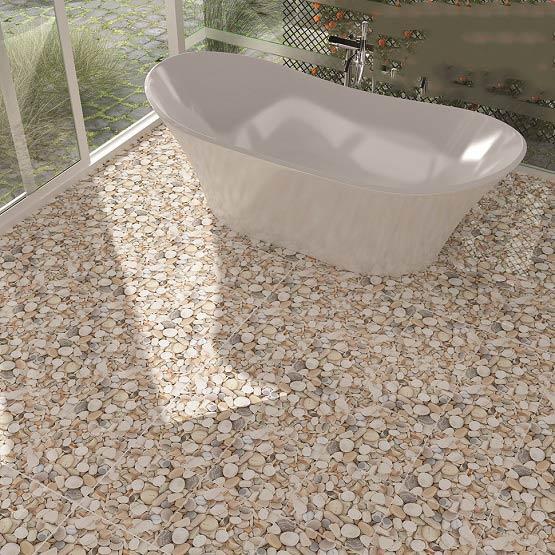 10+ mẫu gạch lát nền nhà tắm giả sỏi được yêu thích nhất hiện nay 10