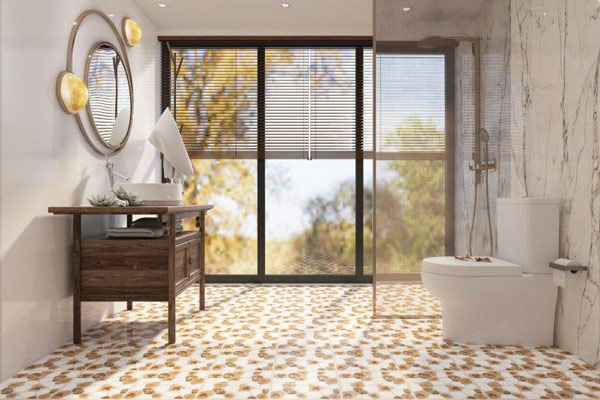 10+ mẫu gạch lát nền nhà tắm giả sỏi được yêu thích nhất hiện nay 2