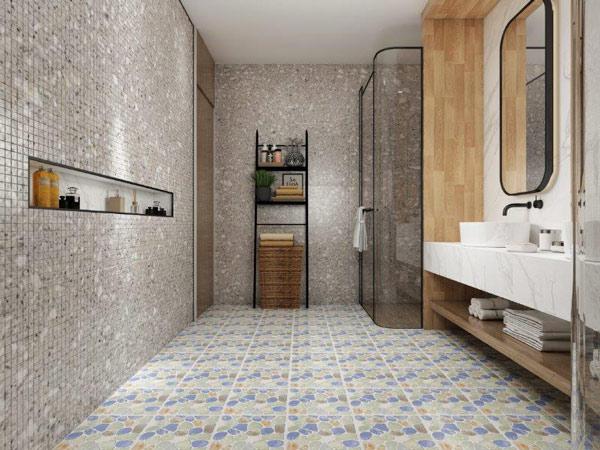 10+ mẫu gạch lát nền nhà tắm giả sỏi được yêu thích nhất hiện nay 3