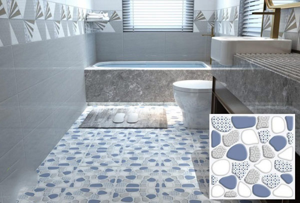10+ mẫu gạch lát nền nhà tắm giả sỏi được yêu thích nhất hiện nay 4