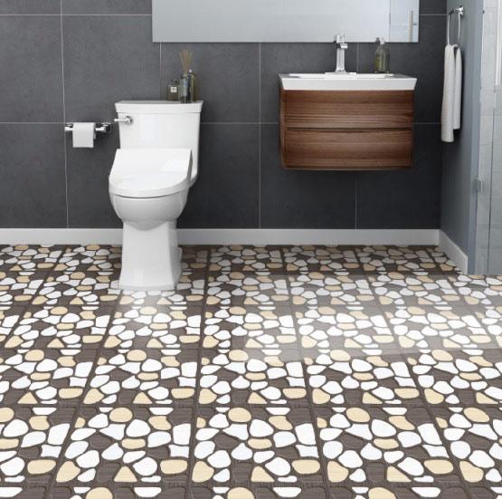 10+ mẫu gạch lát nền nhà tắm giả sỏi được yêu thích nhất hiện nay 5