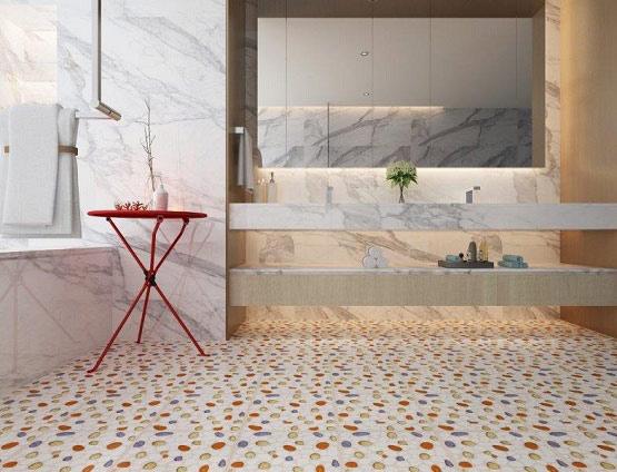 10+ mẫu gạch lát nền nhà tắm giả sỏi được yêu thích nhất hiện nay 9