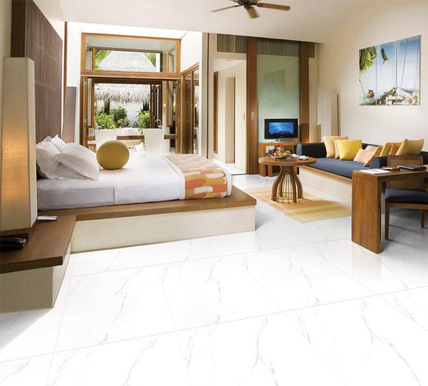 TOP mẫu gạch lát nền phòng khách màu trắng đẹp - sang nên chọn 2021 2