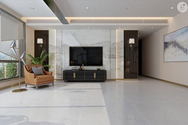 TOP mẫu gạch lát nền phòng khách màu trắng đẹp - sang nên chọn 2021 4