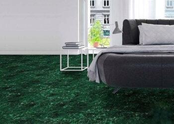 gạch lát nền màu xanh rêu